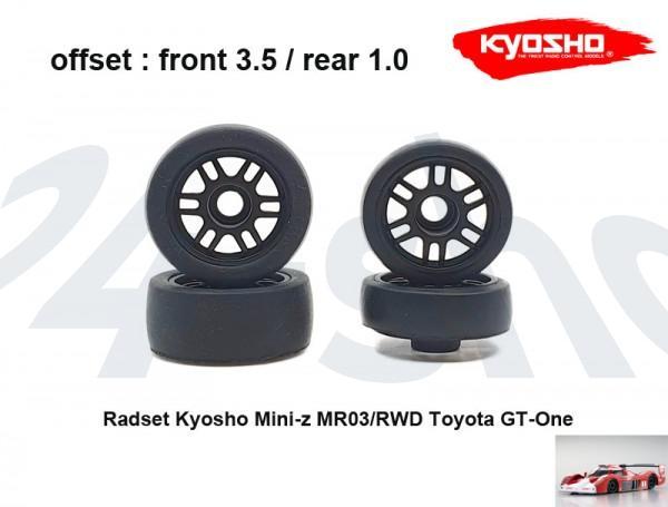 Radset (4) Mini-z MR-03 3510 black