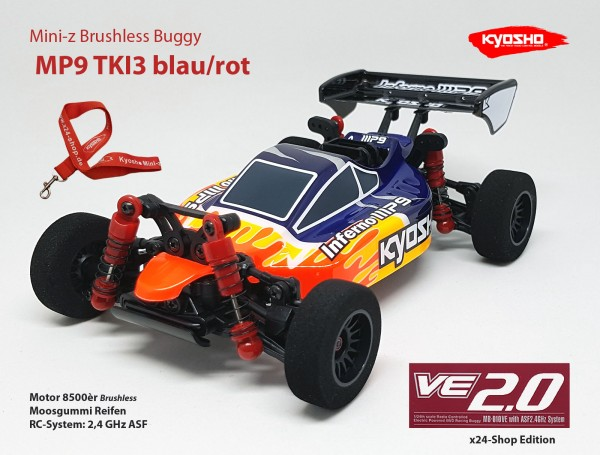 Mini-z Brushless Buggy#VE / Kyosho MB-010VE / K.32291 / Brushless / MP9 TKI3 blau/rot