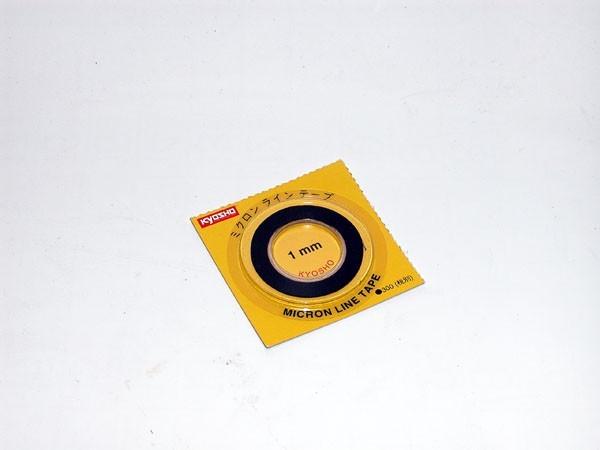 Zierstreifen black 1mm x5.0m Mini-z