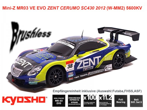 Mini-Z MR03 VE EVO ZENT CERUMO SC430 2012 (W-MM2) 5600KV