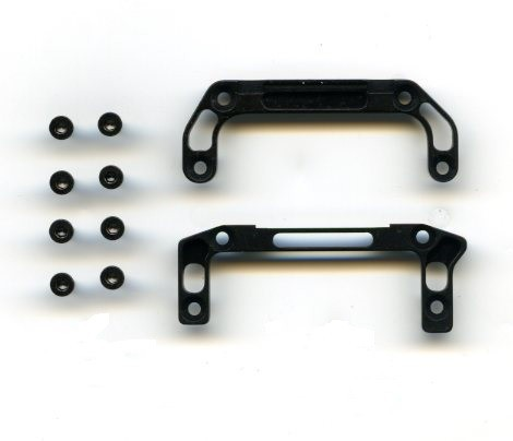 UPPER&LOWER REAR CHASSIS MOUNTS black Mini-z  XP-AWD-812GH-BK