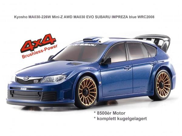 Mini-Z AWD MA030 EVO SUBARU IMPREZA blue WRC2008