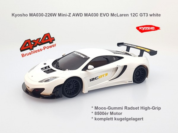 Mini-Z AWD MA030 EVO McLaren 12C GT3 white