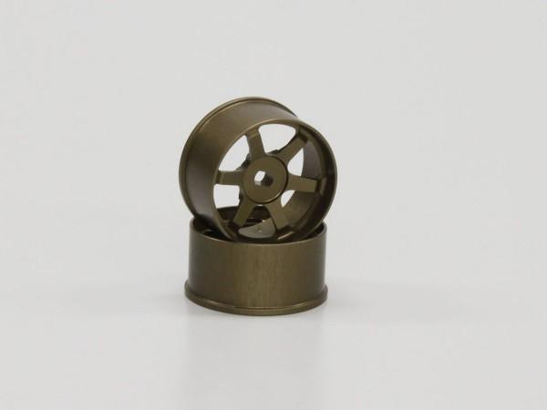 Mini-z AWD Alu-Felge 6 Speichen, Rear bronze (2) R246-1471