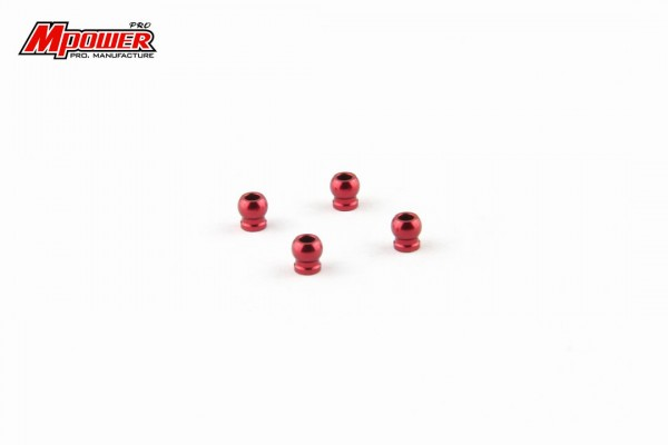 Kugelköpfe red alu Mini-z MA-020 DWS mpower MAU1008R
