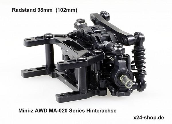 """Mini-z AWD MA-020 Series Hinterachse komplett """"langer Radstand""""  mdw100-03-x24"""