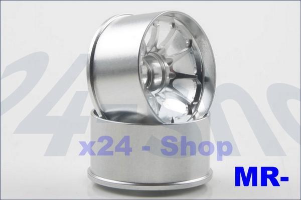 Kyosho Mini-z MR-03 Alu-Felge 6 Speichen, rear silber (2) R246-1602
