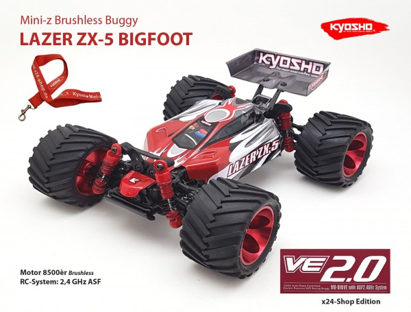 Mini-z Brushless Buggy#VE / Kyosho MB-010VE / K.32291 / Brushless / LAZER ZX-5 BIGFOOT