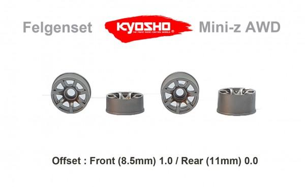 Felgenset Mini-z MR-03 7 Spoke silver 1/0