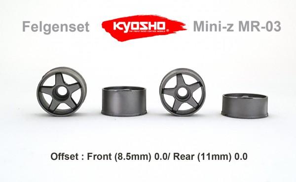 Felgenset Mini-z MR03 5 Spoke 0/0 silber