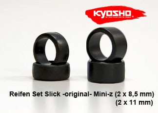 Mini-z Reifen Set original Slick 8.5mm