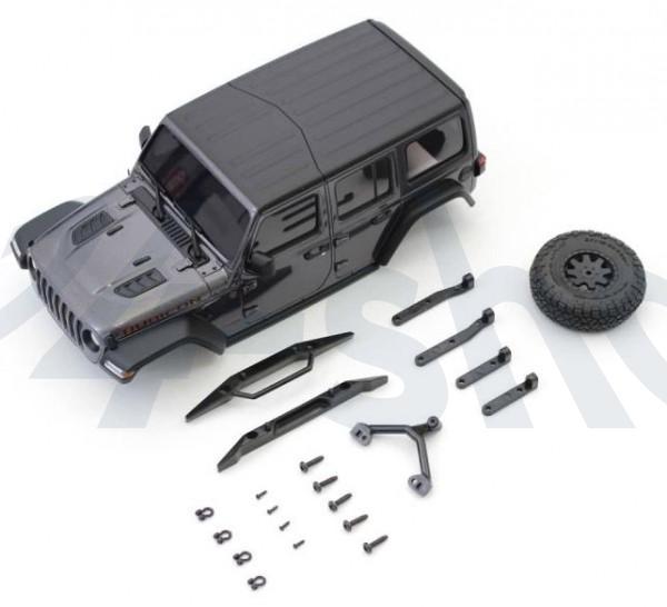 MINI-Z Crawler | K.MXB01GM | Kyosho | Karossserie Jeep Wrangler Rubicon Mini-Z 4X4 MX01 Grey Mini-Z 4X4 MX01