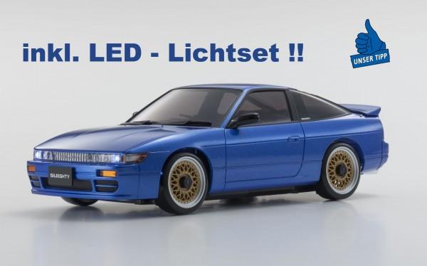 Karosserie Mini-z Nissan Sileighty blau inkl.LED