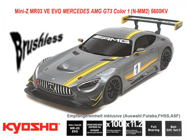 kyosho |Mini-Z MR03 EVO MERCEDES AMG GT3 Color 1 | K.32791