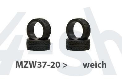 Reifen Mini-z Radial, 8,5mm (4) MZW37-20