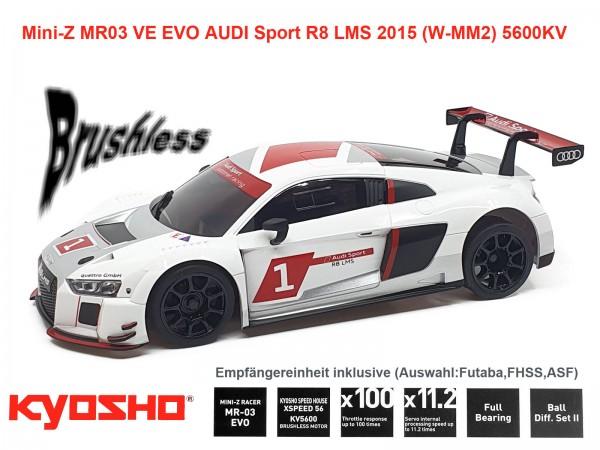 kyosho |Mini-Z MR03 EVO AUDI Sport R8 LMS 2015 WHITE | K.32791