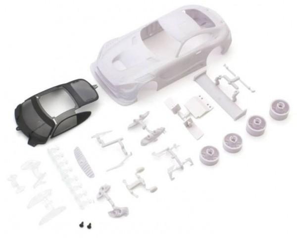 Karosserie Mercedes AMG GT3 Mini-Z + Felgen 2WD (Ohne Lackierung)