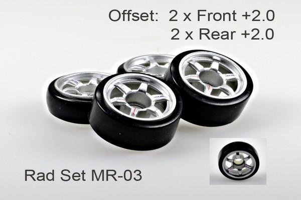 Radset (4) Mini-z MR-03 2.02 silber