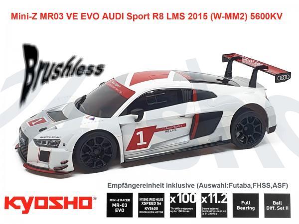 kyosho   Mini-Z MR03 EVO AUDI Sport R8 LMS 2015 WHITE   K.32791