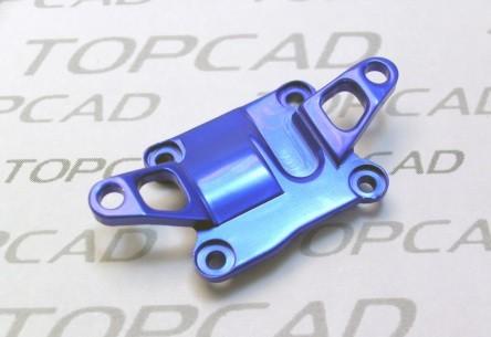 vordere Getriebeabdeckung Alu-Blau Mini-z AWD