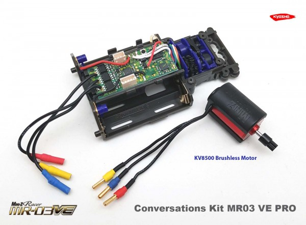Mini-z MR03 VE Pro | Conversion-Kit 8500 | MR03 RWD | MR03 Sports | Umrüstsatz