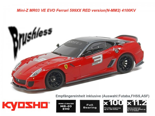kyosho |Mini-Z MR03 EVO Ferrari 599xx | K.32794