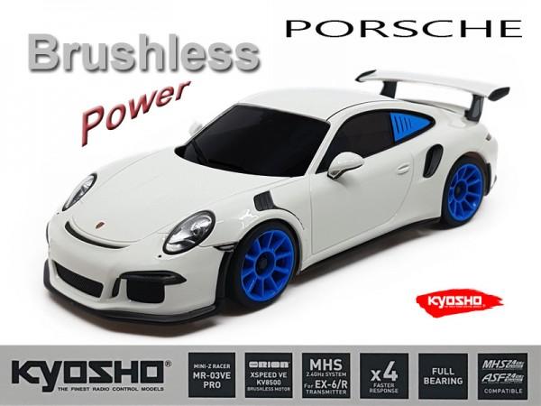 Mini-z MR-03VE PRO Porsche 911 GT 3 white blue