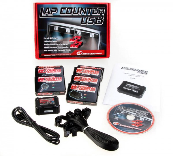Robitronic LapCounter System USB mit 3 Transponder