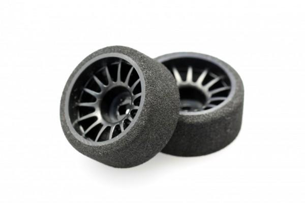 Felge+ Reifen Mini-z AWD rear (11 mm) Moosgummi