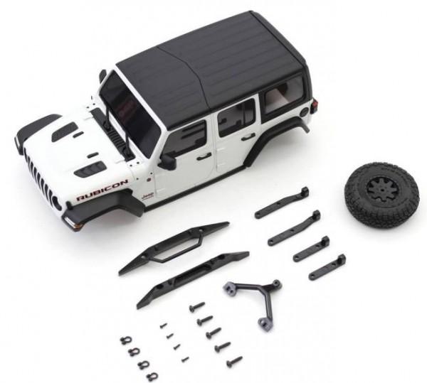 MINI-Z Crawler | K.MXB01W | Kyosho | Karossserie Jeep Wrangler Rubicon Mini-Z 4X4 MX01 White Mini-Z 4X4 MX01
