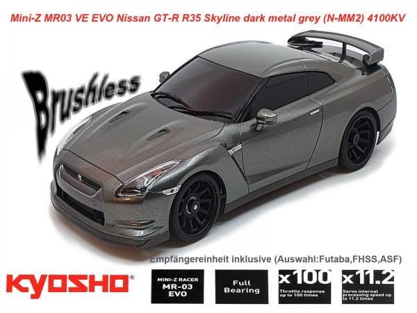 Mini-Z MR03 VE EVO Nissan GT-R R35 Skyline dark metal grey (N-MM2) 4100KV