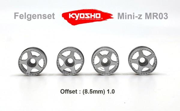 Felgenset Mini-z MR-03 1/1 silber 5 Spoke