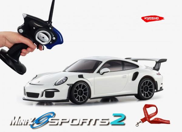 Mini-z / Kyosho MR-03 Sports 2 / PORSCHE 911 GT3 RS weiß / K.32231W / RWD
