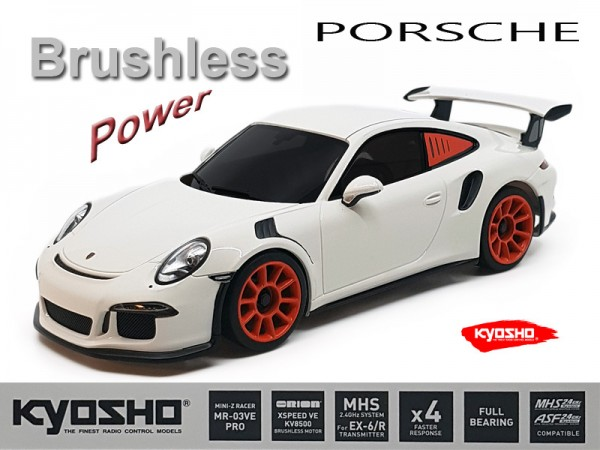 Mini-z MR-03VE PRO Porsche 911 GT 3 white