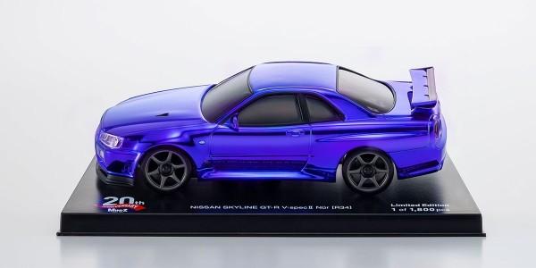 Karosserie Mini-z NISSAN SKYLINE GT-R V・Spec Ⅱ Nur (R34) Chrome Blue