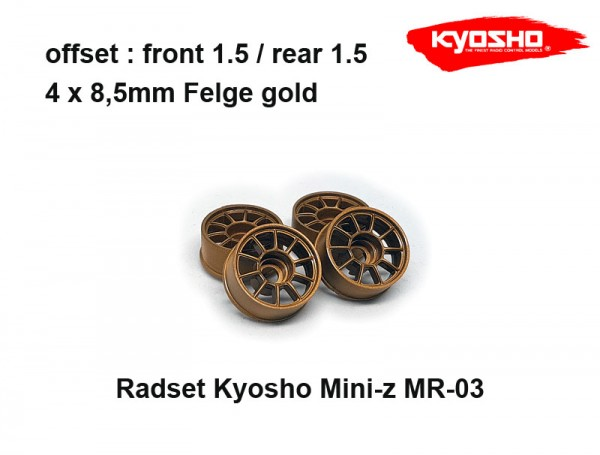 Felgenset Mini-z MR-03 / Kyosho / gold