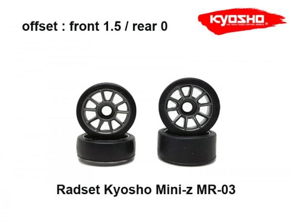 Radset (4) Mini-z MR-03 150 silber-grau