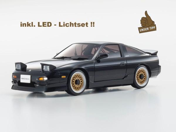 Karosserie Mini-z Nissan 180SX WRX AERO KIT schwarz inkl. LED