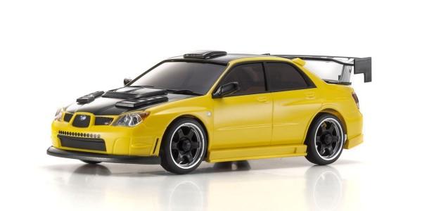 Kyosho Mini-z AWD Karosserie / K.MZP416MY | SUBARU IMPREZA WRX AERO KIT GELB MA020 | AUTOSCALE Mini-Z