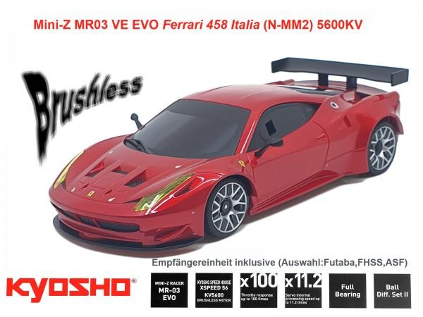 kyosho |Mini-Z MR03 EVO Ferrari 458 Italia | K.32791
